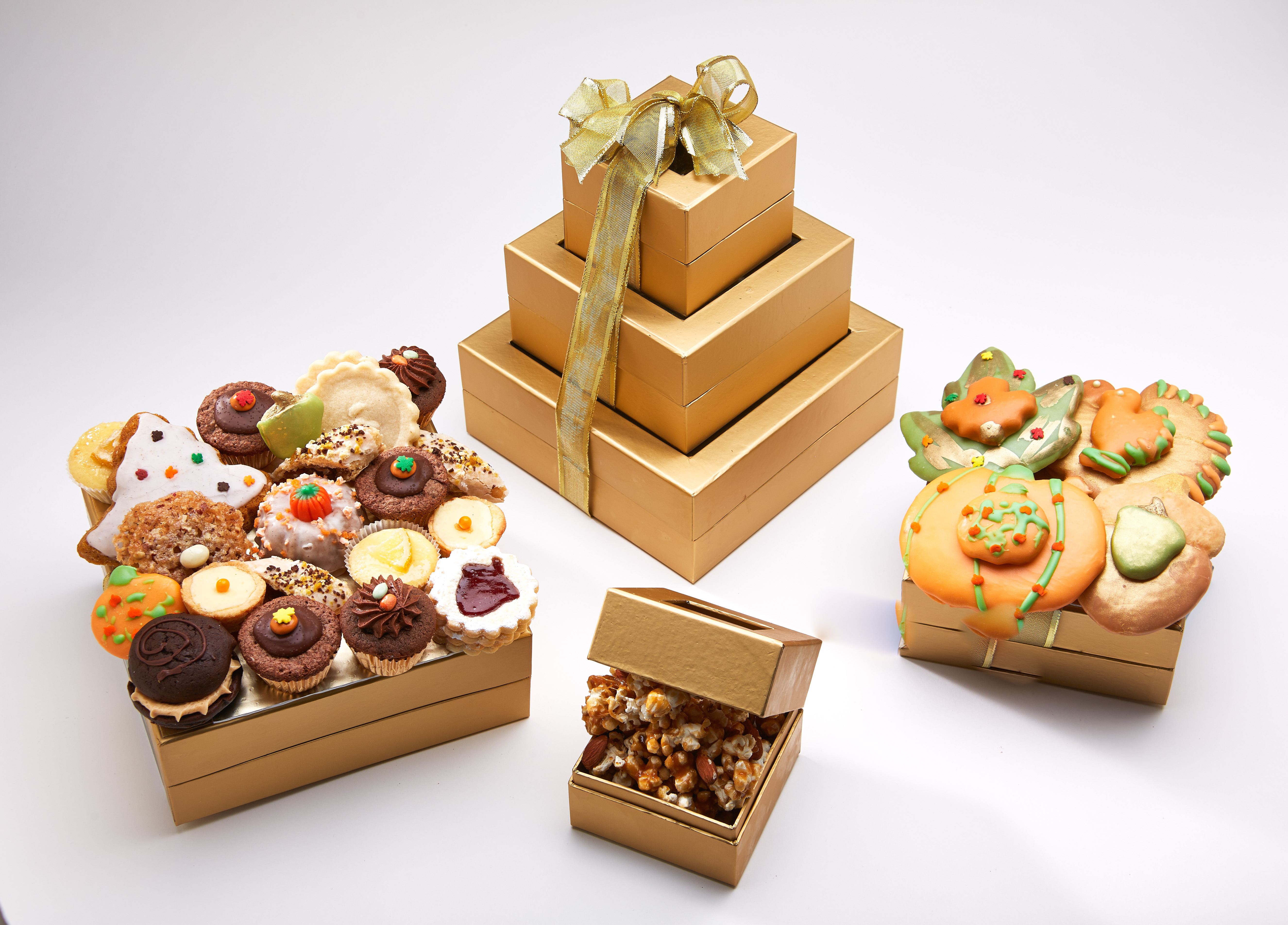 Gourmet Cupcake and Cookie Gift Baskets for Thanksgiving and Halloween